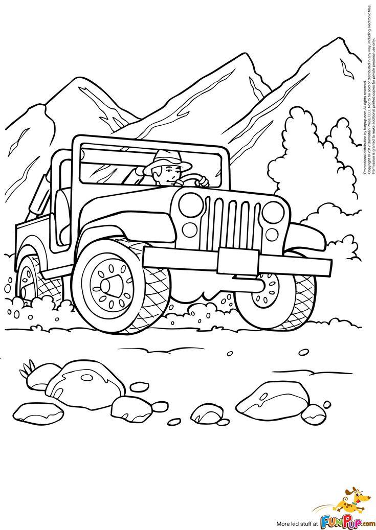 gocoloringpages28.jpg (2199×3101) Jeep Beach Kids