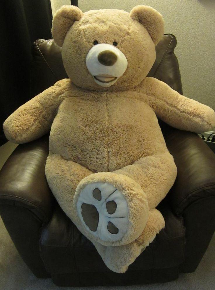 Giant Hugfun Plush Teddy Bear 53 Light Brown Tan Life