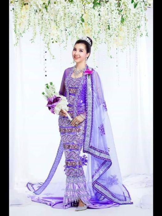 159 best images about Myanmar wedding dress on Pinterest ...