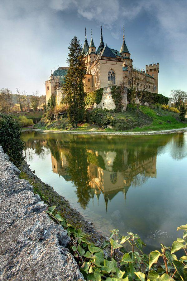 ღღ Beautiful!!! ~~~ Bojnice City, Slovakia ~~~ Bojnice Castle is a medieval castle in Bojnice, Slovakia. It is a Romantic