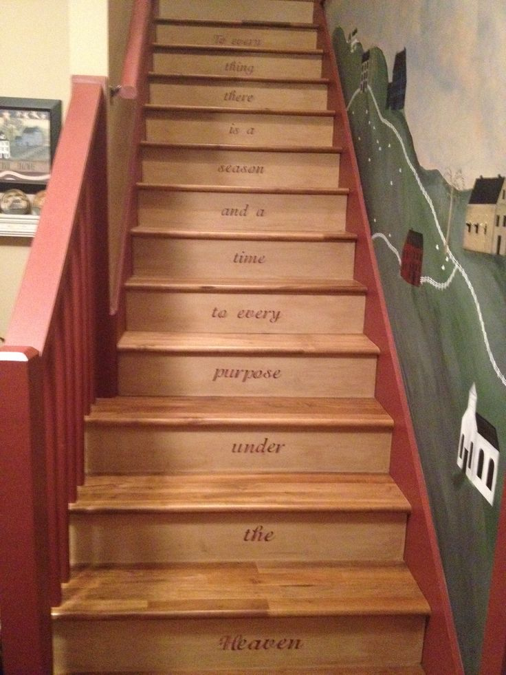 1000 Images About Stencilled Stairs On Pinterest Stair