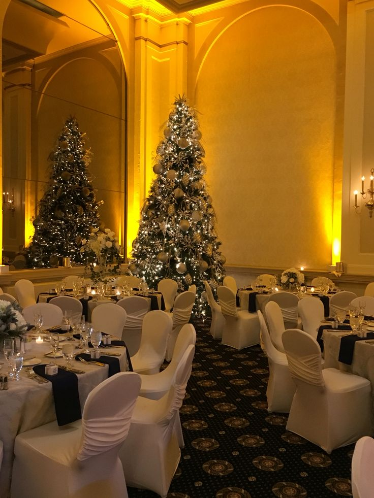 Christmas WeddingGrand Ballroom. Chair covers by Elegance