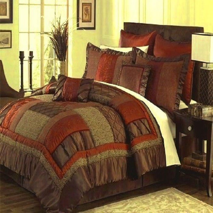 brown and green bedroom brown bedding