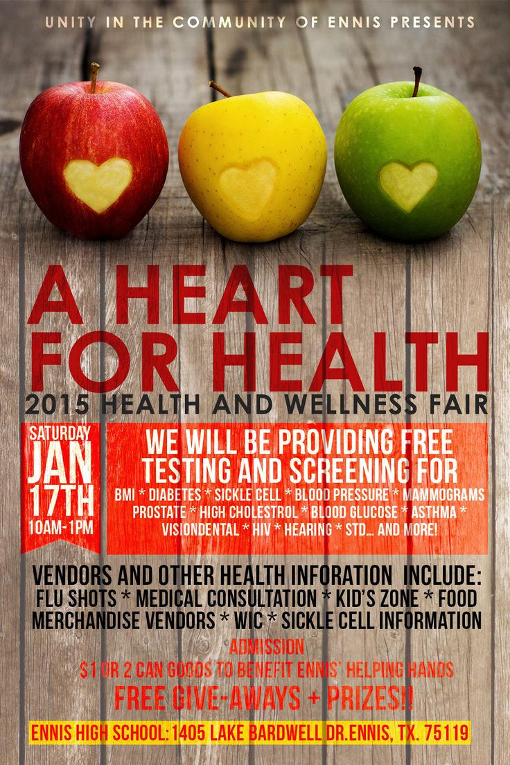 health fair poster Design Loves Pinterest Health fair