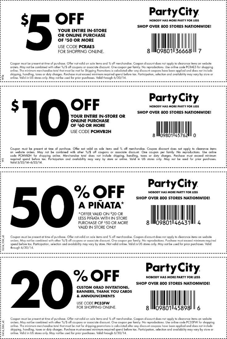 Pinned June 18th 5 off 50 and more at Party City, or