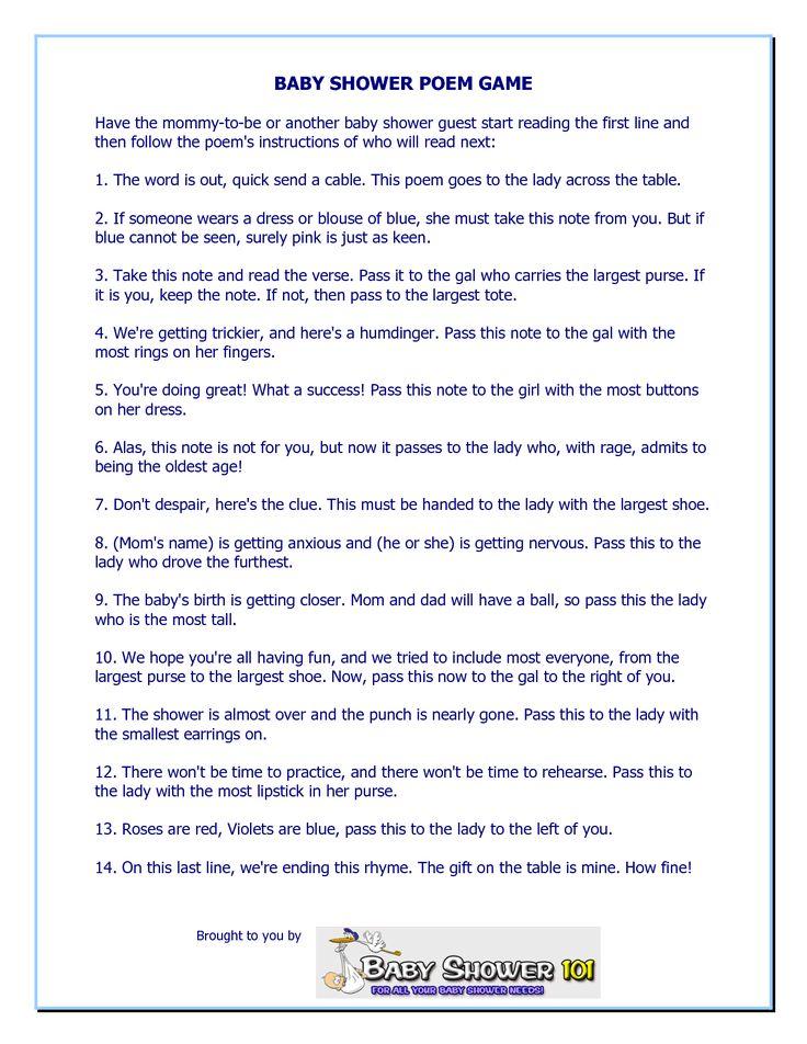 Feminine Baby Shower Message Poem Worth Revisiting Pinterest Baby Shower Poems Baby