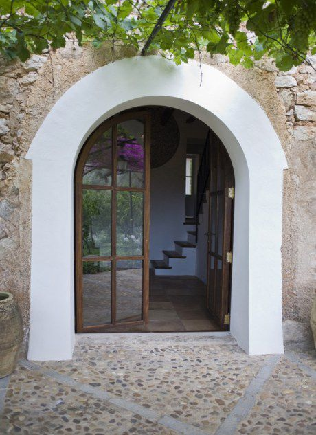Love The Arched French Doors In This Farm House In Spain