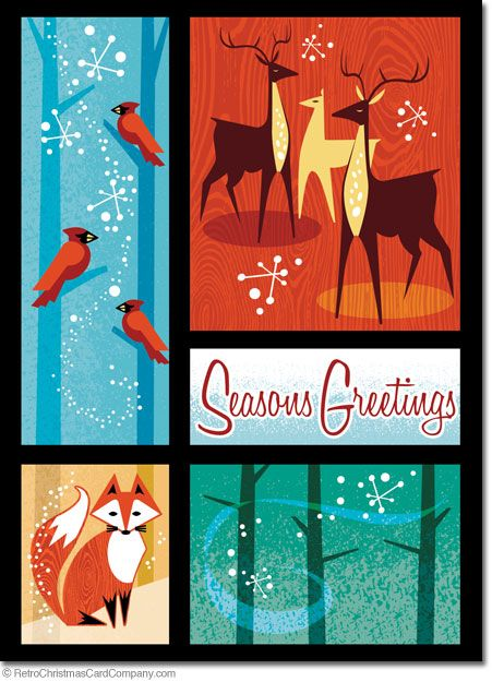 17 Best Images About Reindeer Christmas Cards On Pinterest