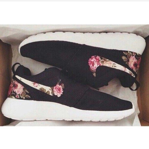 $53 Nike roshe print , flower print nike wholesale, nike outlets @lightningshoes