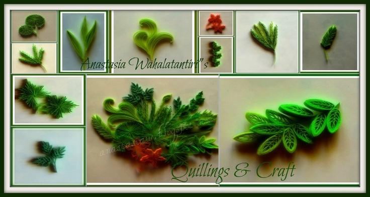 Leaf Tutorial Using A Comb Quilling Comb Pinterest