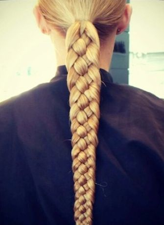 For a super polished look, try working more than the typical three braiding stra