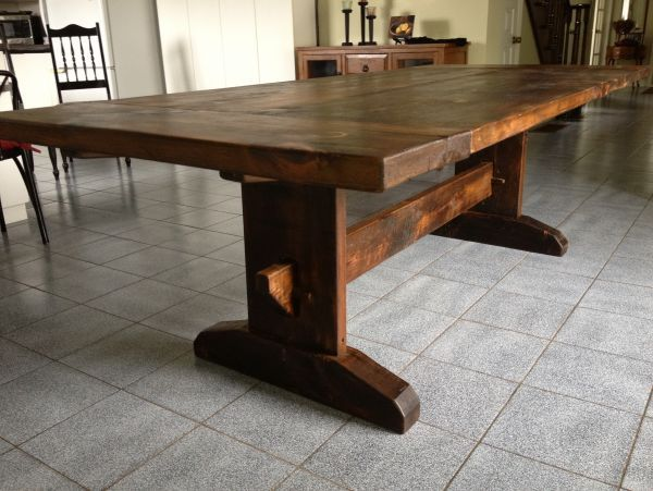Shaker Trestle Table Plans Free WoodWorking Projects Amp Plans