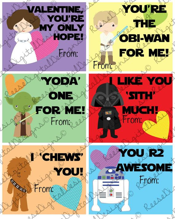 These printable Valentines cards are perfect for kids to bring for classroom parties. They come 6 to a she