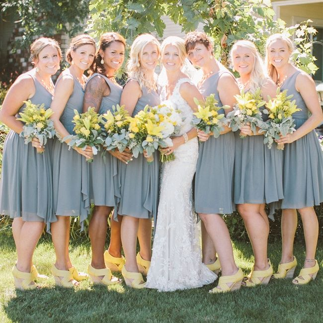 Gray And Yellow Wedding | deweddingjpg.com