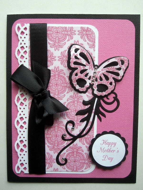 Birthday card, butterfly, butterflies, embossed birthday