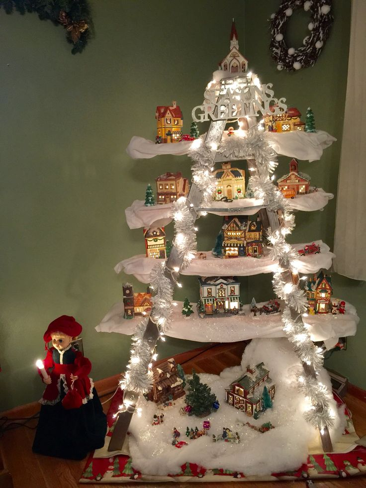 Amazing Way To Display Your Holiday Village Christmas