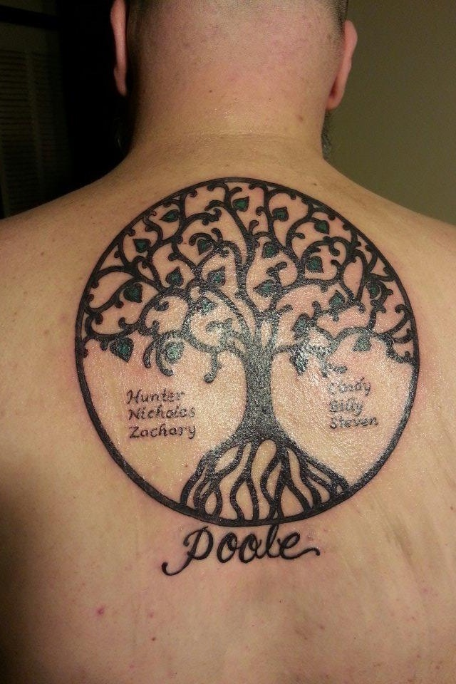 Family Tree Tattoo. Love this Tattoo ideas Pinterest