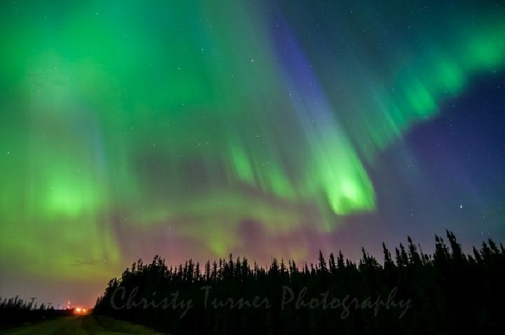 Northern Lights Edmonton Last Night