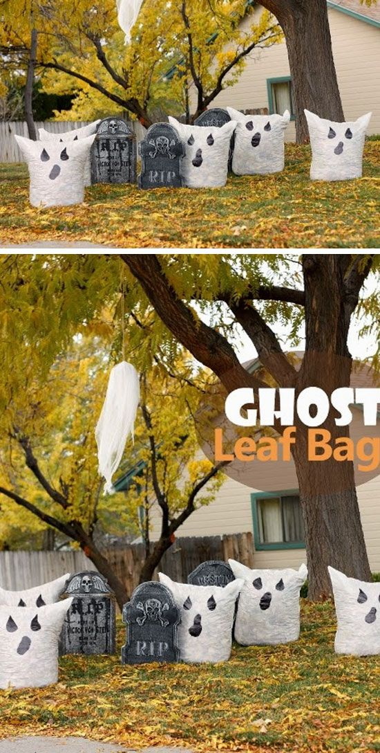 Ghost Leaf Bags Click Pic for 21 Easy DIY outdoor