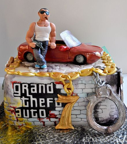 Grand Theft Auto Cake Xbox One Cakes And Grand Theft Auto