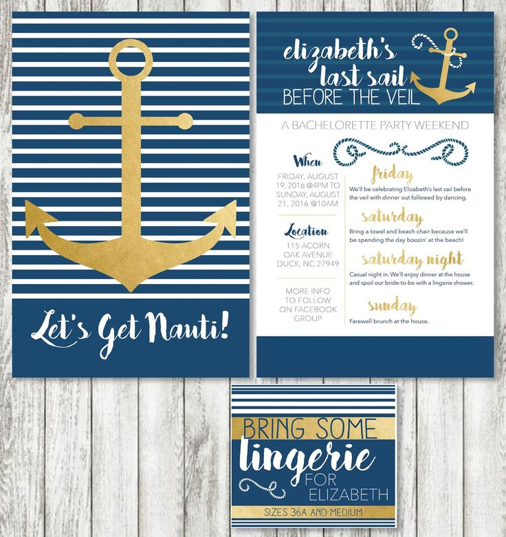 Nautical Bridal Shower Invitations