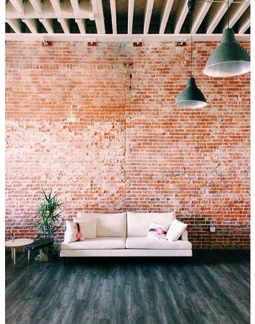 Brick Feature Wall In The Living Room Brick Feature