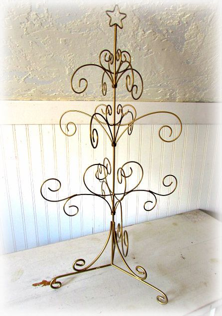 Table Top Wire Tree Shabby Chic Wire Tree Gold Metal