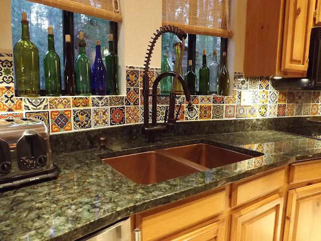 Mexican Tile, Granite Counter, Undermount Sink