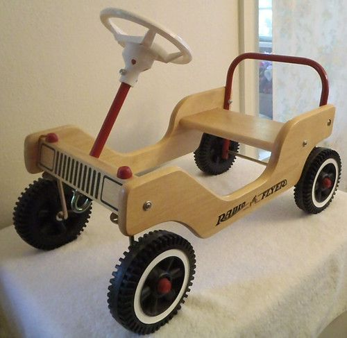 Radio Flyer Little Wooden Push Car Ride Indoors Outdoors