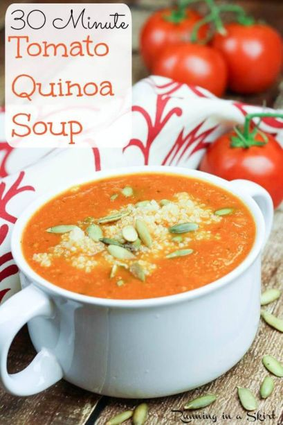 Tomato Quinoa Soup | Running in a Skirt: