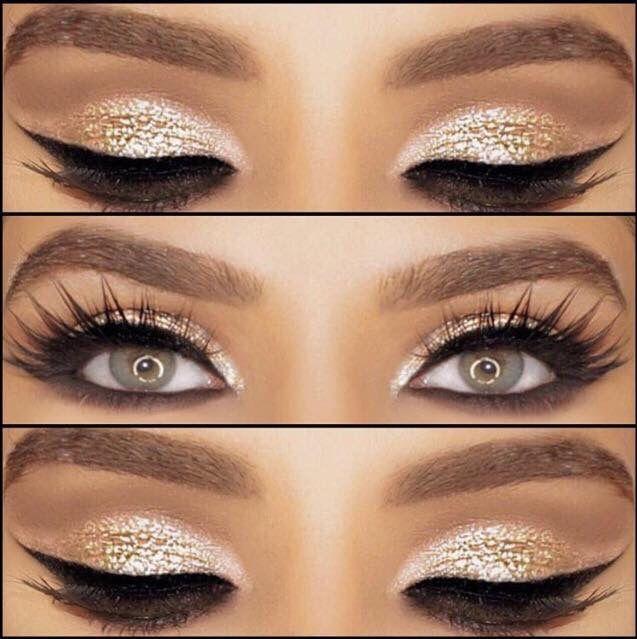Bold Gold Eyeshadow Look Makeup Pinterest Eyeshadow