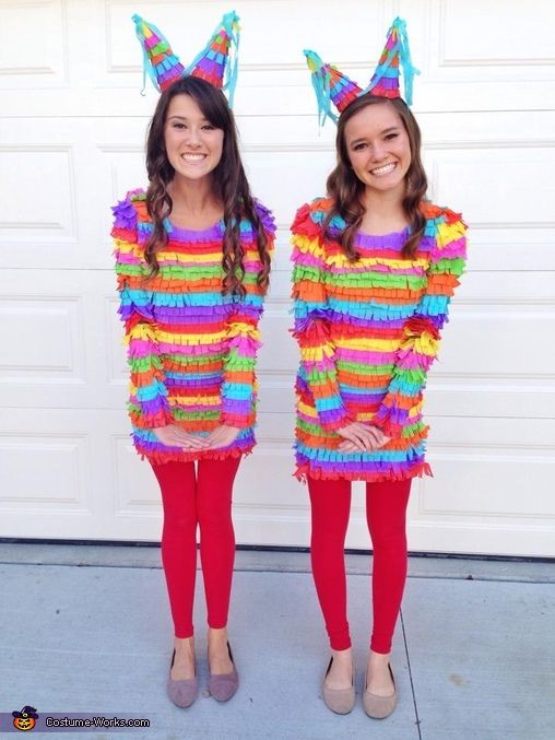 Pinatas – DIY Halloween Costumes…. I personally would not want to be beaten until something falls