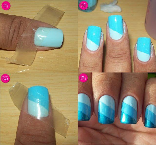 Easy Nail Design Need Tape Nails Pinterest Nail