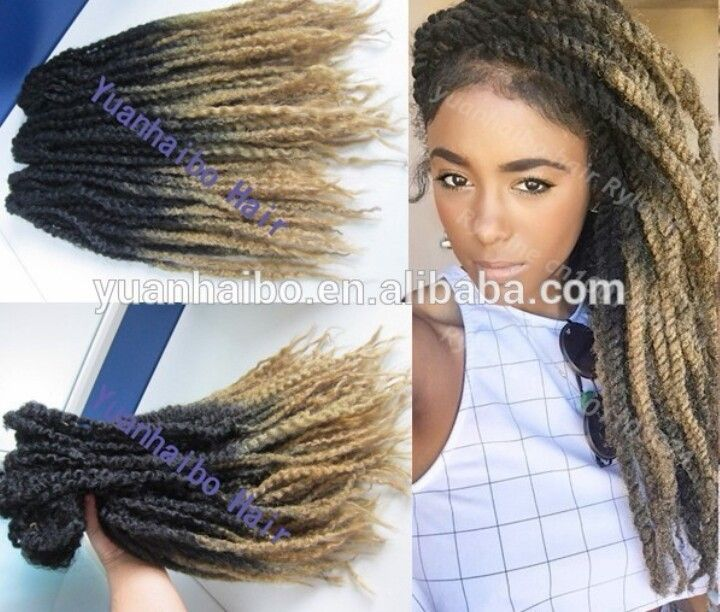 Ombre Marley Twists Protective And Natural Styles