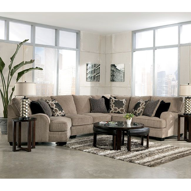 93598 The Katisha Platinum Sectional Collection By Signature Design By Ashley Furniture