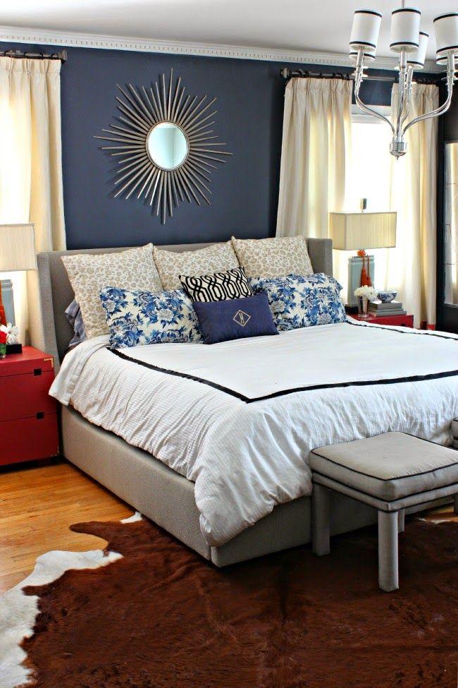MASTER BEDROOM ONE ROOM CHALLENGE REVEAL Bedroom Makeovers Hale Navy And Master Bedrooms