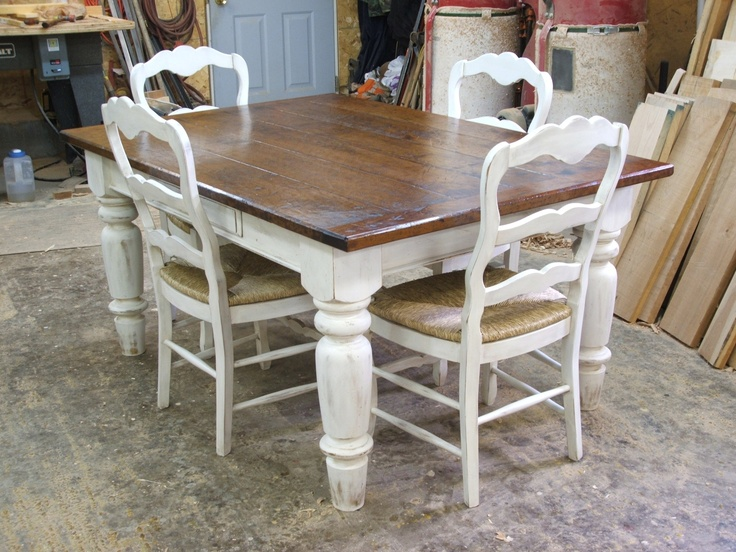 white and timber dining table Dining Room Pinterest