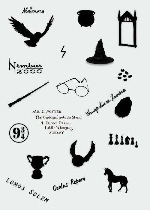 Black And White Harry Potter Icons