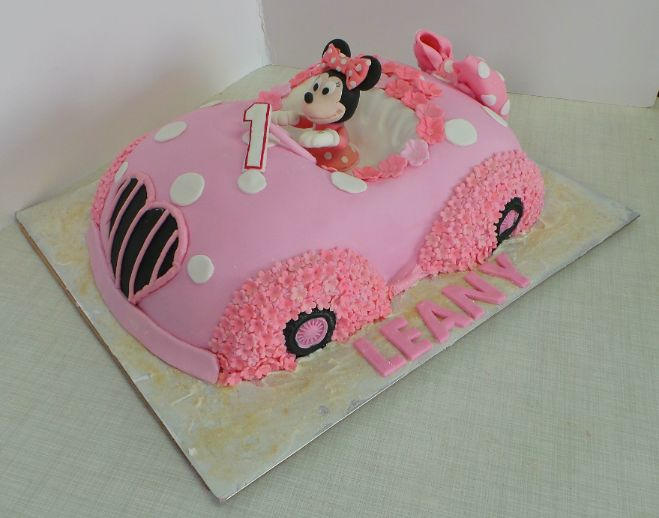 Minnie Mouse Car Cake Design Was Brought In By Client By