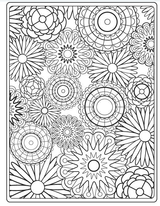 coloring page flowers inkleur pinterest coloring coloring pages