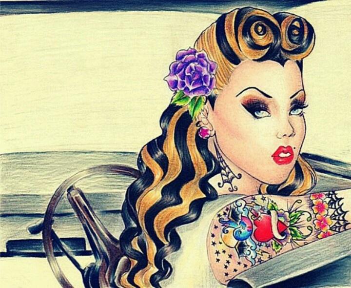 10+ Ideas About Rockabilly Art On Pinterest