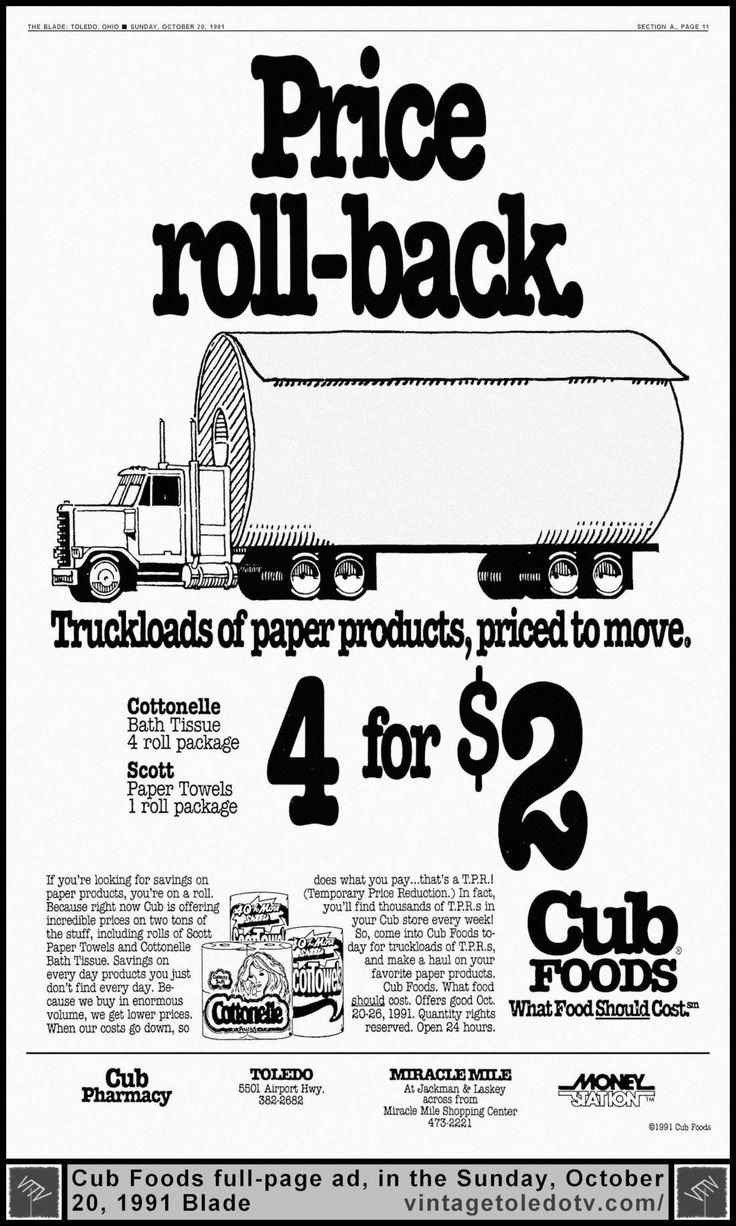 Vintage Toledo TV Other Vintage Print Ads Price roll