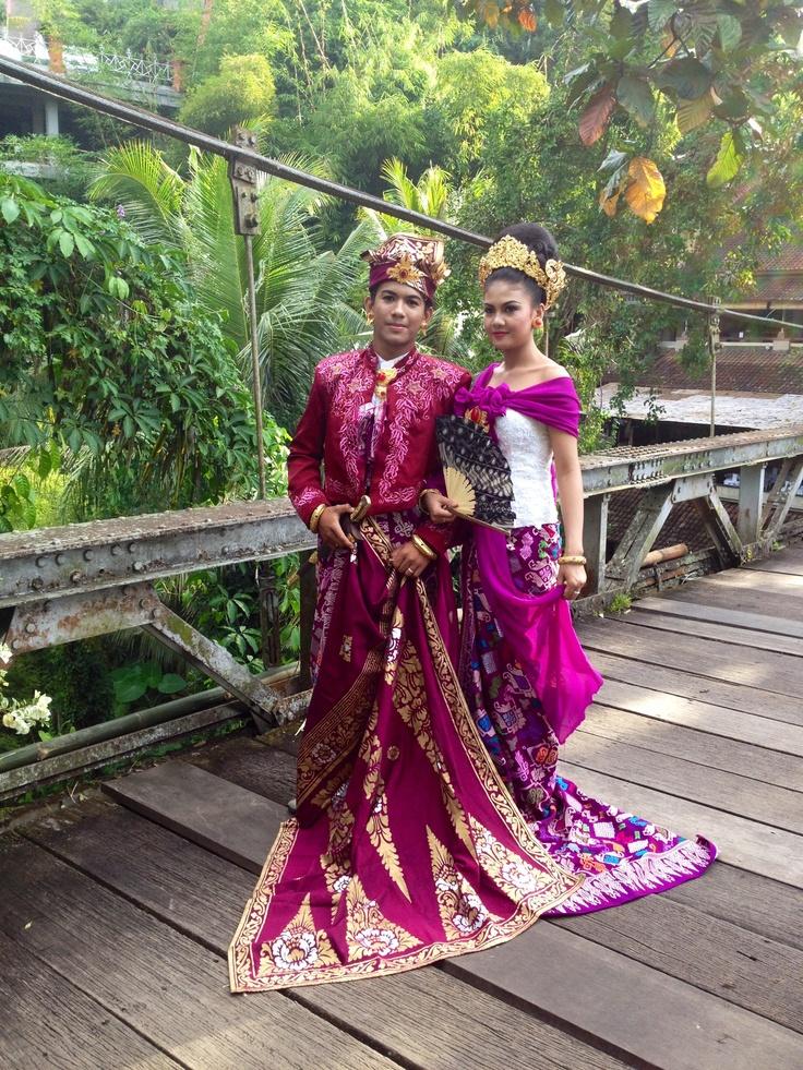 Traditional Balinese wedding dress Travel Pinterest