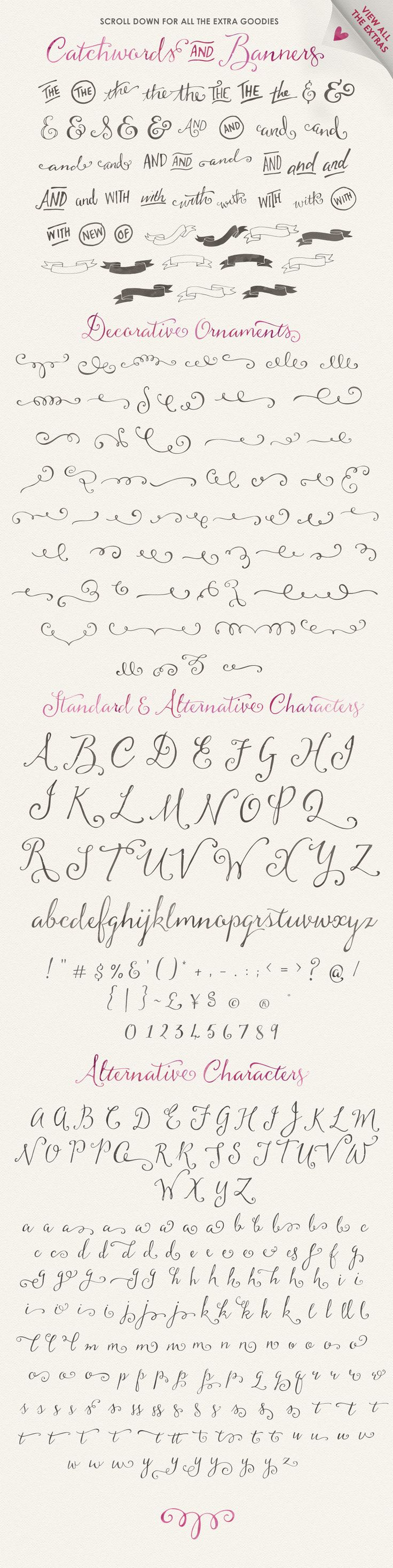 **JUST UPDATED** – To include even **more** extras **AND a Sweet Bonus pack of goodies**:) — This font is so incredibly