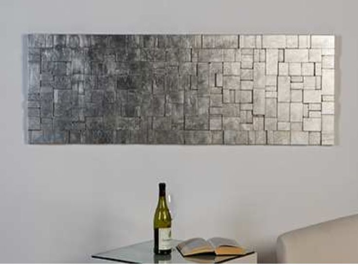 Mat Zilver Breed Houten Design Wanddecoratie Home And