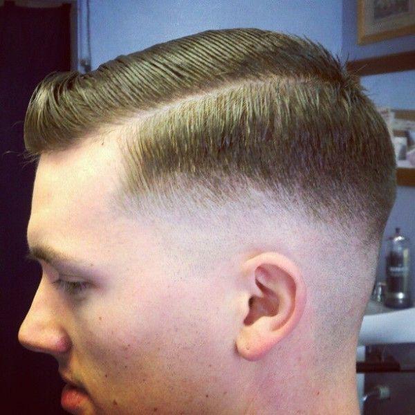 Low Razor Fade Side Part Slick Barbershops Pinterest