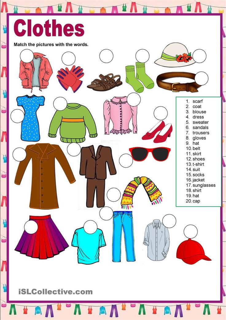 Fashion Clothes ESL worksheets of the day Pinterest