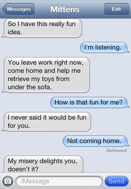 Mittens the text messaging cat (PART 3) – Imgur