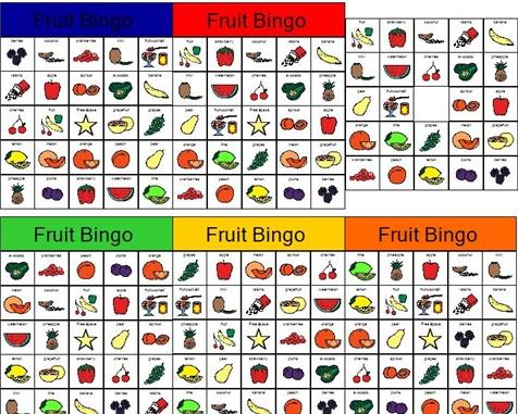Fruit BINGO Nutrition Pinterest Bingo And Fruit