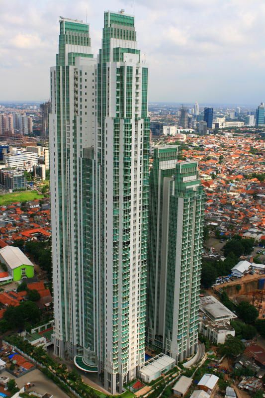 The Peak Twin TowersThe Peak at Sudirman; 219 m; 55 fl